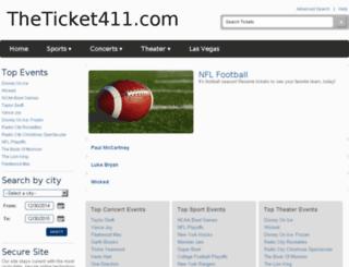 theticket411.com screenshot