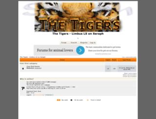 thetigers.forumotion.net screenshot