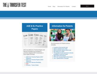 thetransfertest.com screenshot