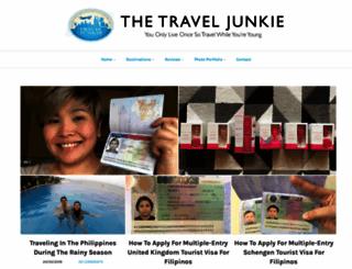 thetraveljunkie.info screenshot