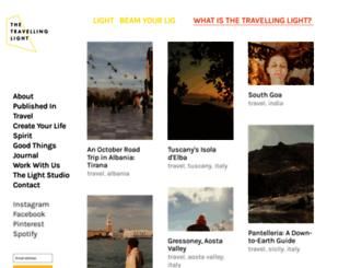 thetravellinglight.com screenshot
