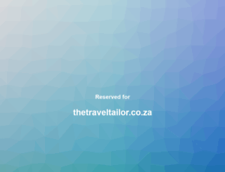 thetraveltailor.co.za screenshot