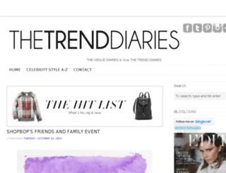thetrenddiaries.com screenshot