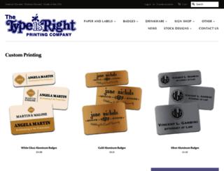 thetypeisright.com screenshot