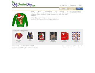 theuglysweatershop.ecrater.com screenshot