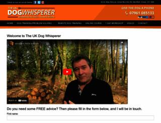 theukdogwhisperer.com screenshot