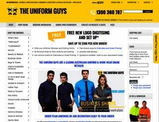 theuniformguys.com.au screenshot