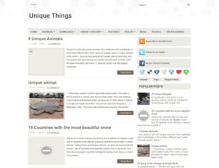 theuniquething.blogspot.com screenshot