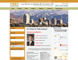 theutahbankruptcylawyer.com screenshot