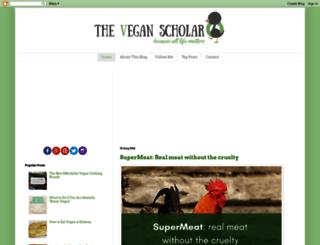 theveganscholar.blogspot.com.au screenshot