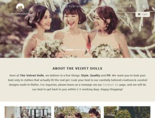 thevelvetdolls.com screenshot