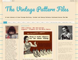 thevintagepatternfiles.blogspot.co.uk screenshot