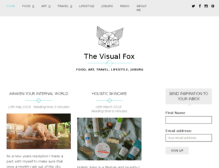 thevisualfox.co.za screenshot