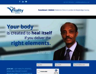 thevitalityclinic.co.uk screenshot