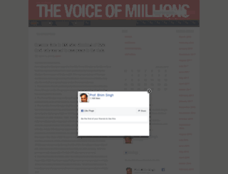 thevoiceofmillions.com screenshot