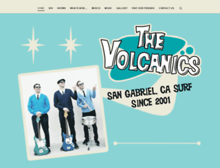 thevolcanics.com screenshot