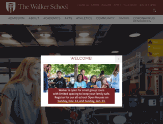 thewalkerschool.org screenshot