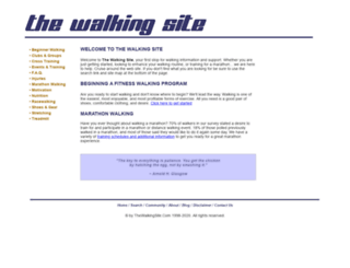 thewalkingsite.com screenshot