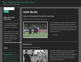thewannabesportsguy.com screenshot