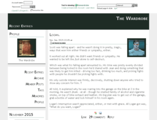 thewardrobe.dreamwidth.org screenshot