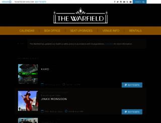 thewarfieldtheatre.com screenshot