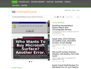 thewatchscene.com screenshot