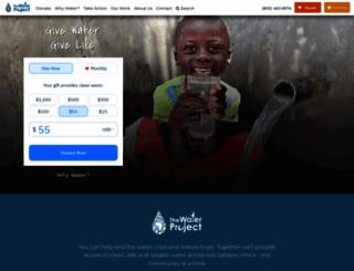 thewaterproject.org screenshot