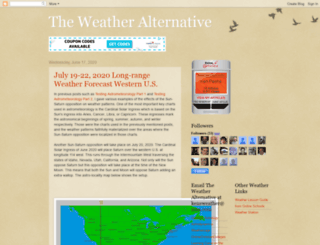 theweatheralternative.blogspot.com screenshot