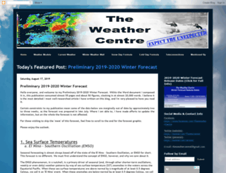 theweathercentre.blogspot.ca screenshot