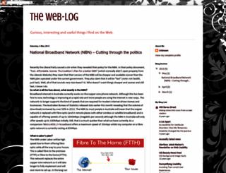 theweb-log.blogspot.com screenshot
