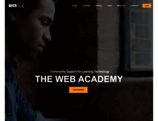 thewebacademy.org screenshot