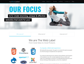 theweblabel.com screenshot