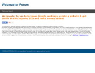 thewebmastersforum.com screenshot