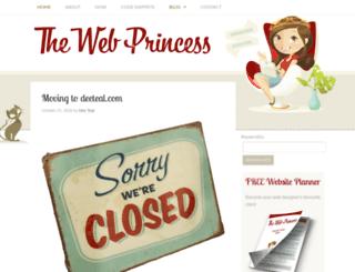 thewebprincess.com screenshot