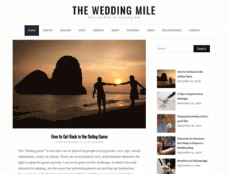 theweddingmile.com screenshot