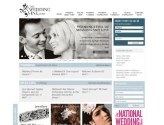 theweddingvine.com screenshot