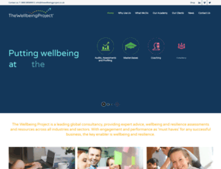 thewellbeingproject.co.uk screenshot