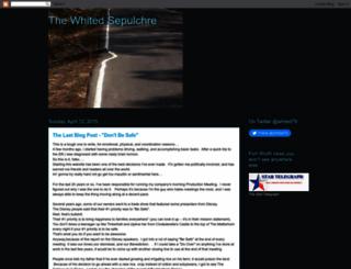 thewhitedsepulchre.blogspot.com screenshot
