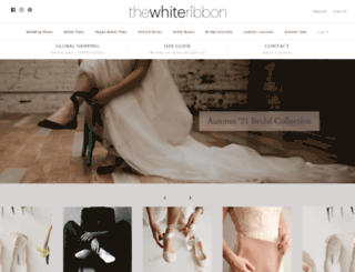 thewhiteribbon.myshopify.com screenshot