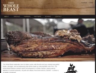 thewholebeast.com screenshot