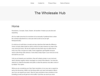 thewholesale-hub.com screenshot