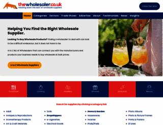 thewholesaler.co.uk screenshot