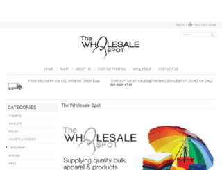 thewholesalespot.co.nz screenshot