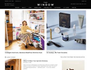 thewindow.barneys.com screenshot