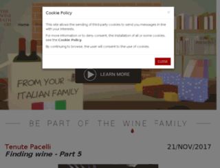 thewinefathers.com screenshot
