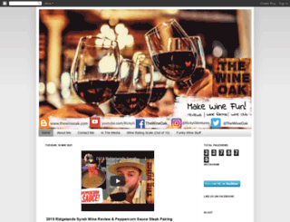 thewineoak.com screenshot