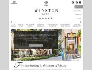 thewinstonhotel.co.za screenshot