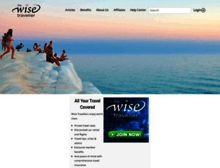 thewisetraveller.com screenshot