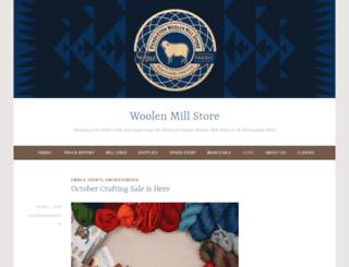 thewoolenmillstore.blogspot.com screenshot