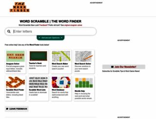 thewordfinder.com screenshot